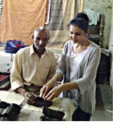 Priyanka Behl of Behl Designs with Fabric Artisan