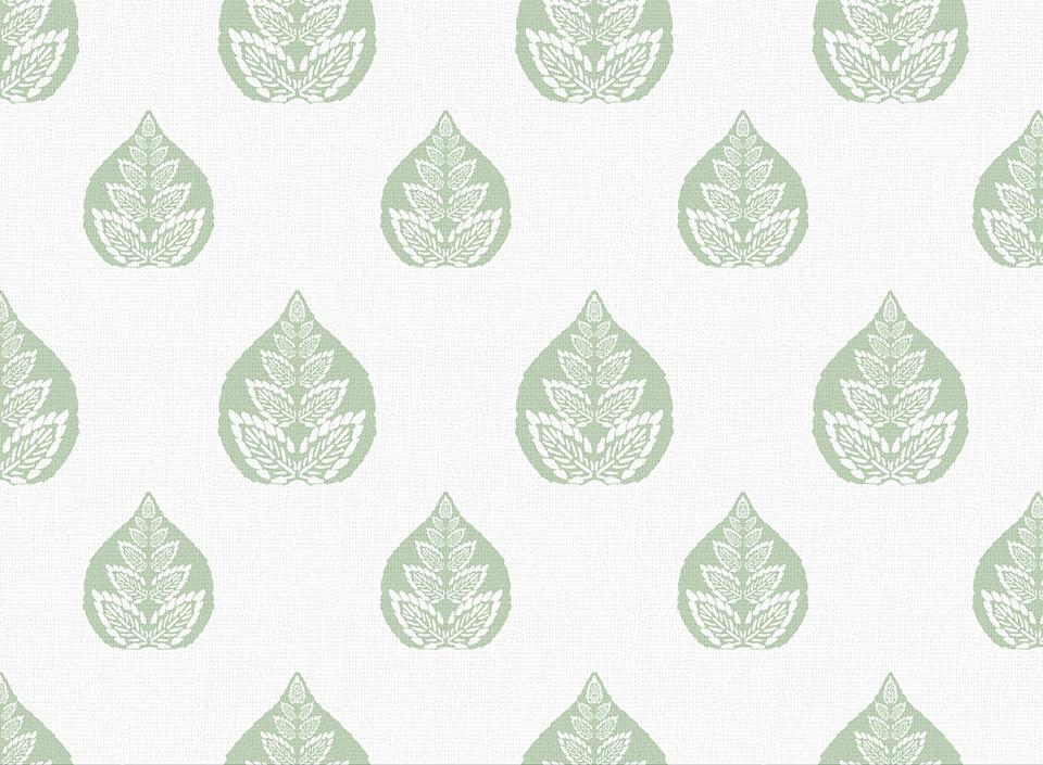 Textile - Print - Banyan - Celadon Green