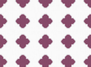 Textile - Print with Embroidery - Alhambra - Plum