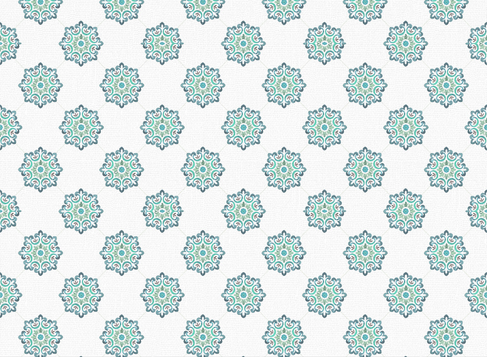Textile - Print - Jaipur - Teal