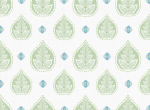 Textile - Print with Embroidery - Banyan - Celadon Green