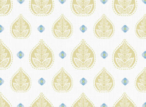 Textile - Print with Embroidery - Banyan - Honey Gold
