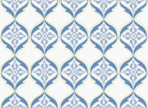 Textile - Print with Embroidery - Calio - Blue Heaven