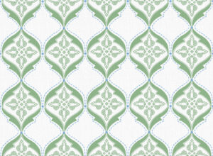 Textile - Print with Embroidery - Calio - Forest Green