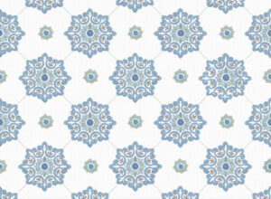 Textile - Print with Embroidery - Jaipur - Moonlight Blue