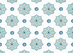 Textile - Print with Embroidery - Jaipur - Teal