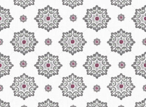 Textile - Print with Embroidery - Jaipur - Vintage Violet