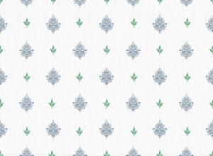 Textile - Print with Embroidery - Kousa - Bijou Blue