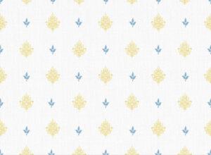Textile - Print with Embroidery - Kousa - Ochre